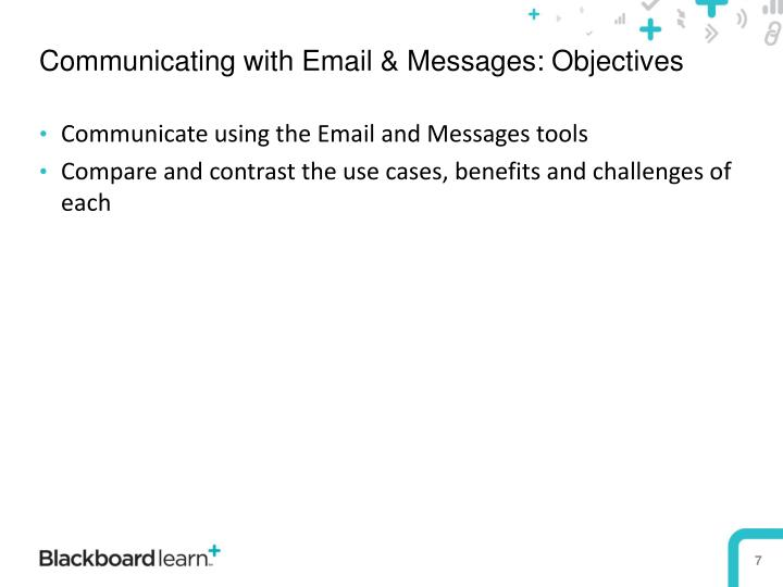 Communicating with Email & Messages: Objectives
