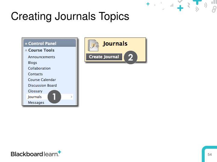 Creating Journals Topics