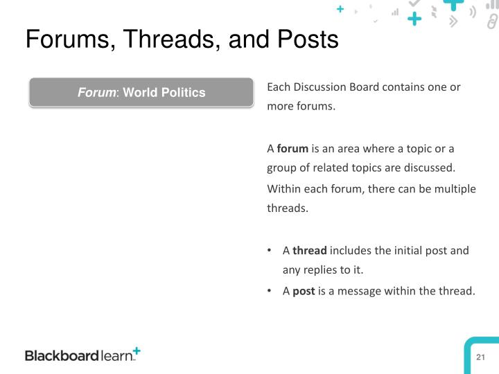 Forums, Threads, and Posts