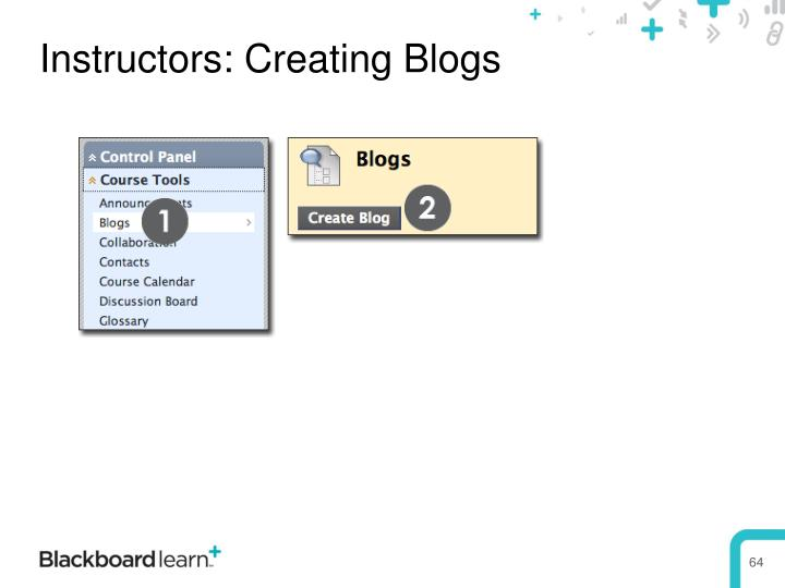 Instructors: Creating Blogs