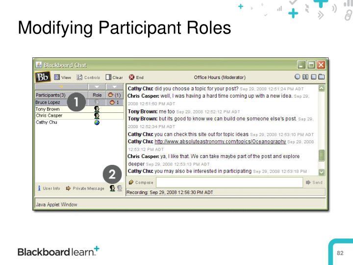 Modifying Participant Roles