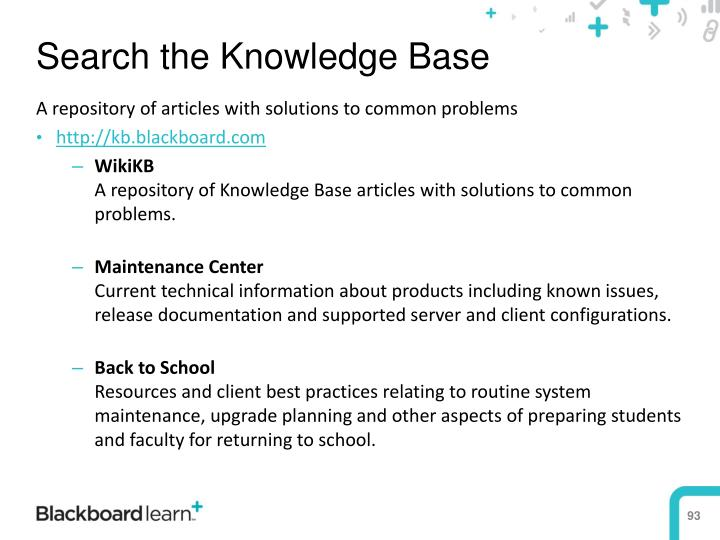 Search the Knowledge Base