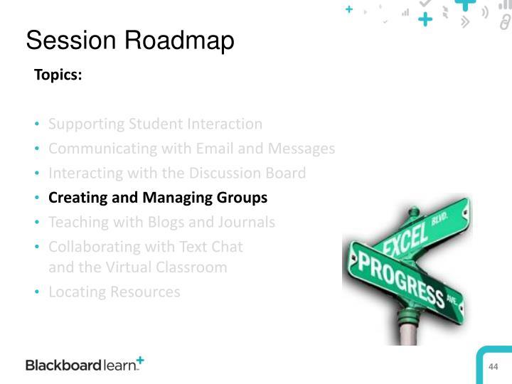 Session Roadmap