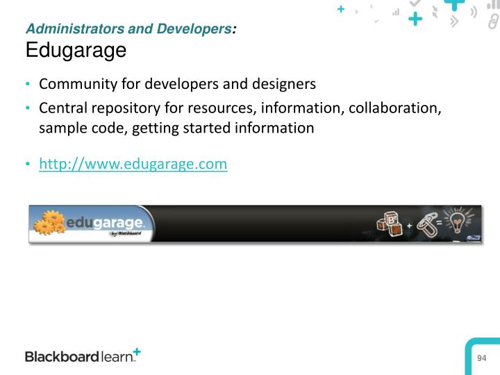 Administrators and Developers