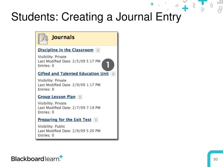 Students: Creating a Journal Entry