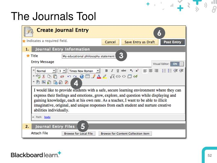 The Journals Tool
