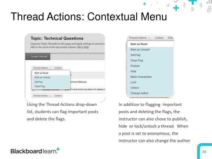 Thread Actions: Contextual Menu