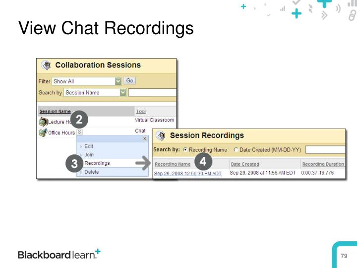 View Chat Recordings