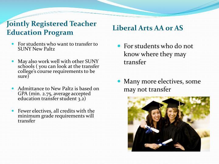 Jointly Registered Teacher Education Program