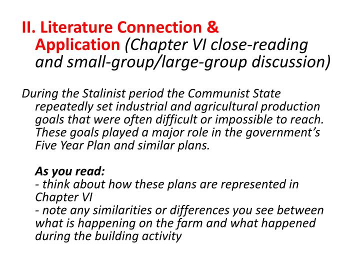 II.Literature Connection & Application
