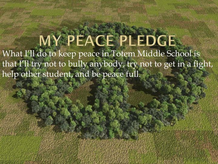 My Peace pledge