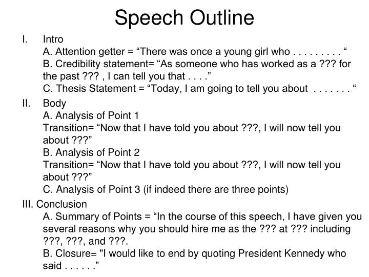 Speech Outline