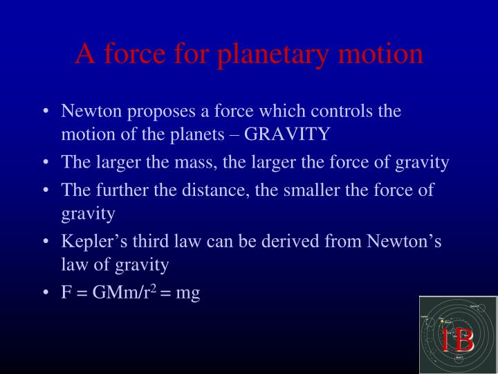 A force for planetary motion