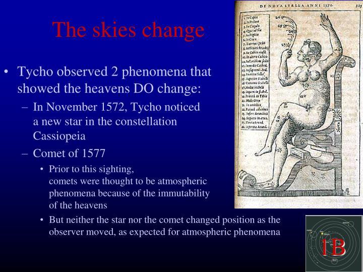 The skies change