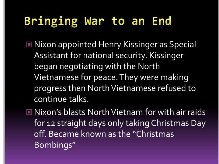 Bringing War to an End