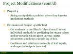 project modifications cont d1