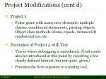 project modifications cont d2