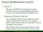 project modifications cont d3