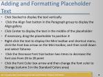 adding and formatting placeholder text1