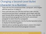 changing a second level bullet character to a number