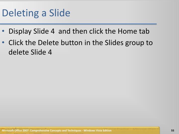 Deleting a Slide