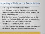 inserting a slide into a presentation1