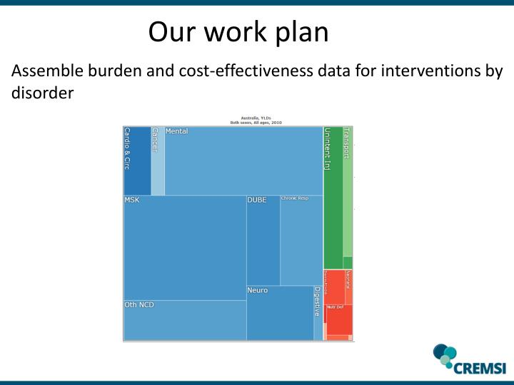 Our work plan