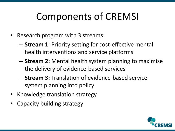 Components of CREMSI