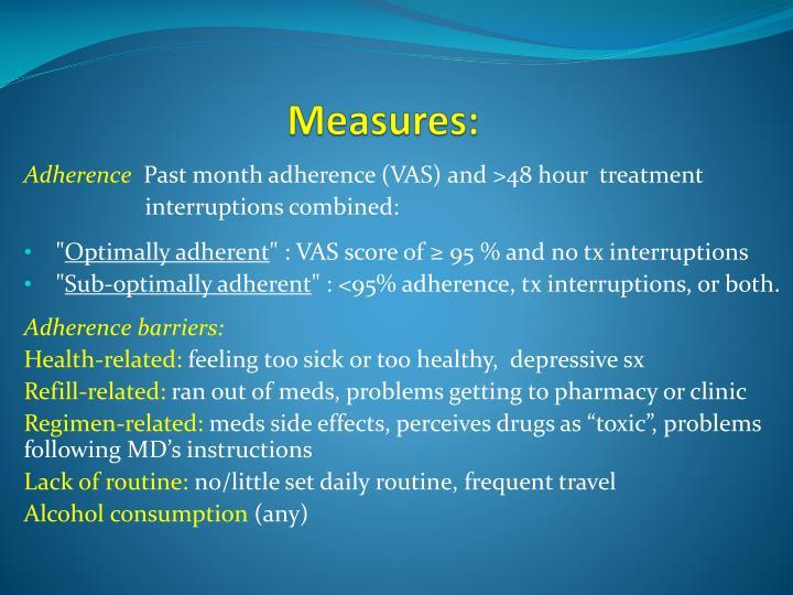 Measures: