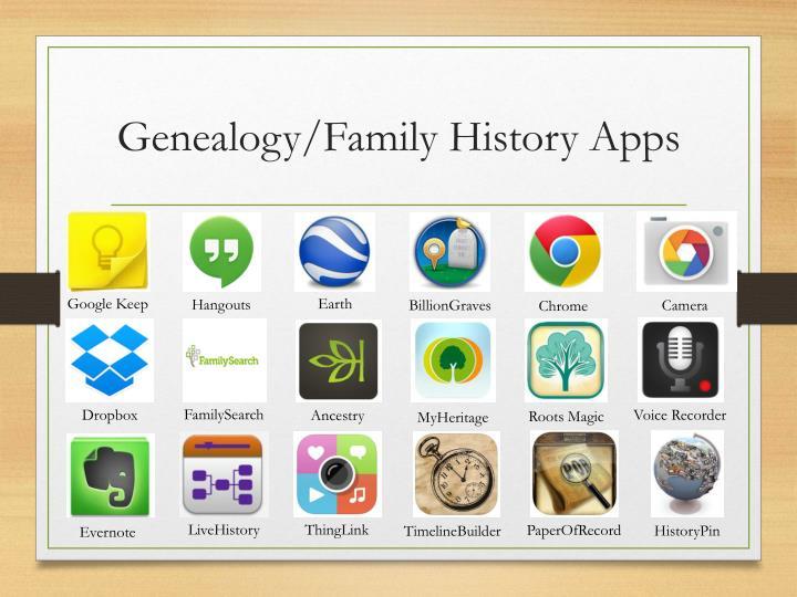 Genealogy/Family History Apps