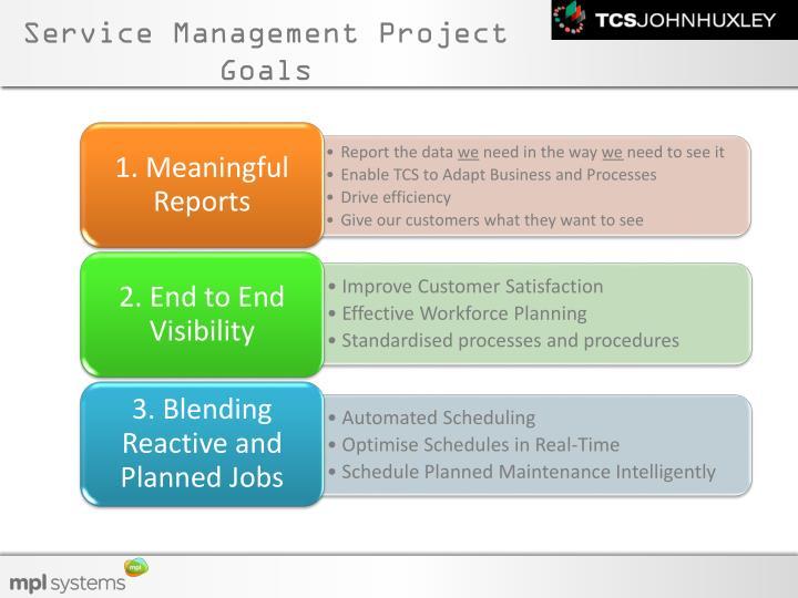 Service Management Project Goals