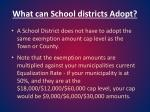 what can school districts adopt