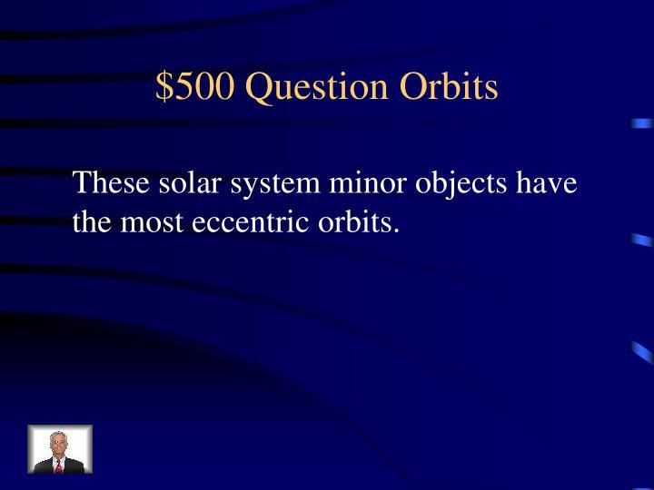 $500 Question