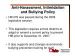 anti harassment intimidation and bullying policy