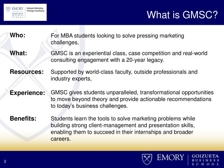What is GMSC?