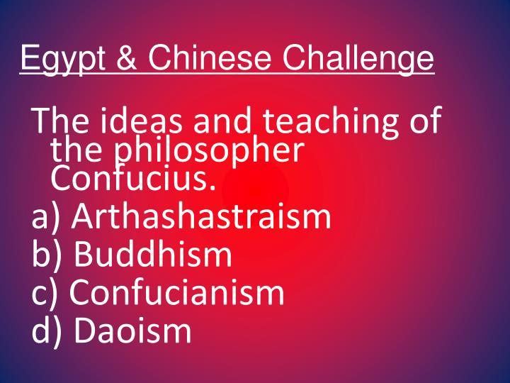 Egypt & Chinese Challenge