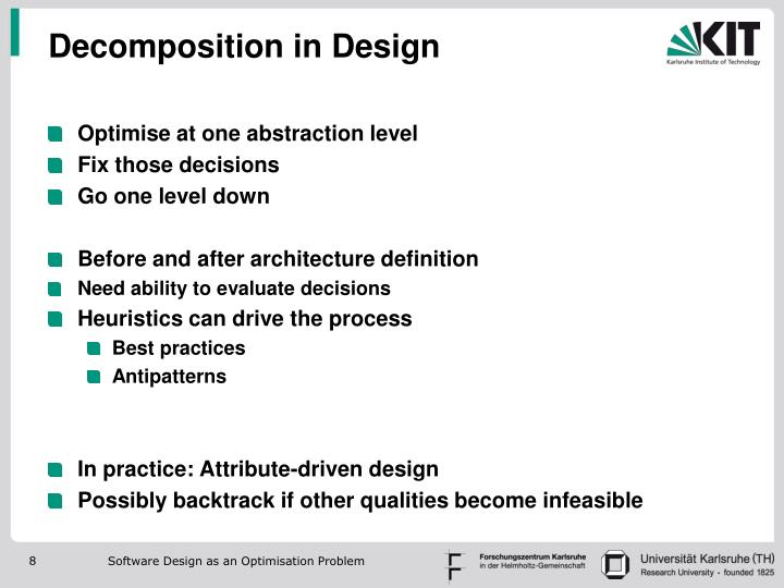 Decomposition in Design