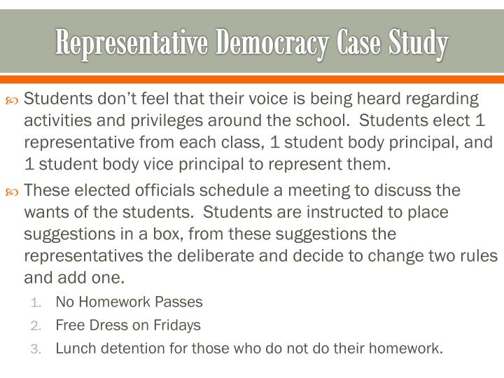 Representative Democracy Case Study