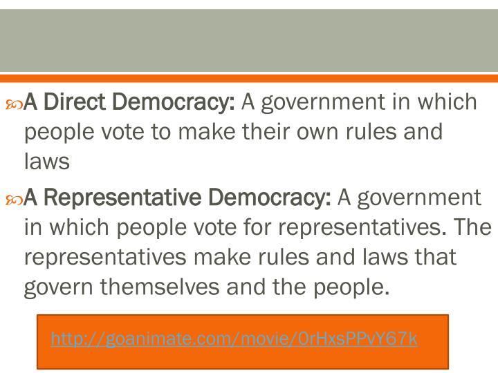 A Direct Democracy:
