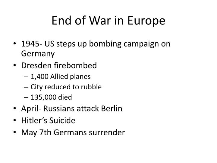 End of War in Europe