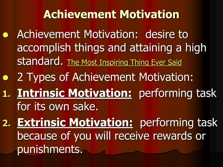 Achievement Motivation
