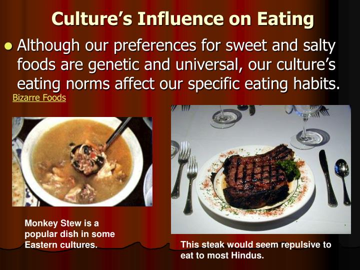 Culture's Influence on Eating