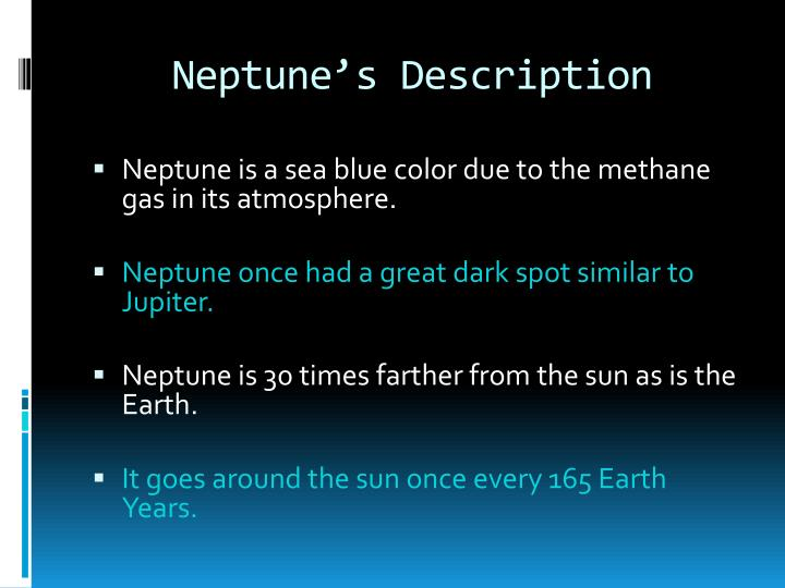 Neptune s description