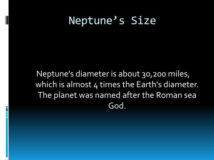 Neptune's Size