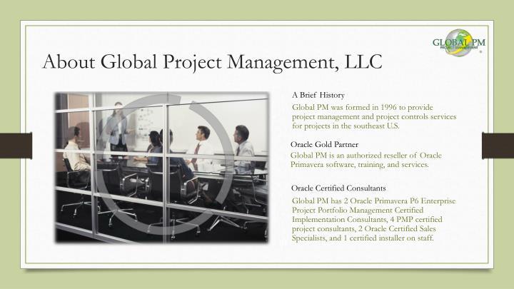 About Global Project Management, LLC