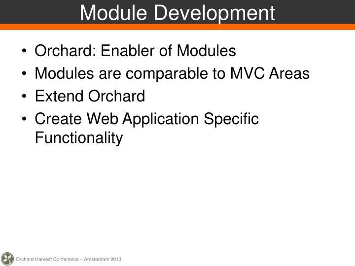 Module Development