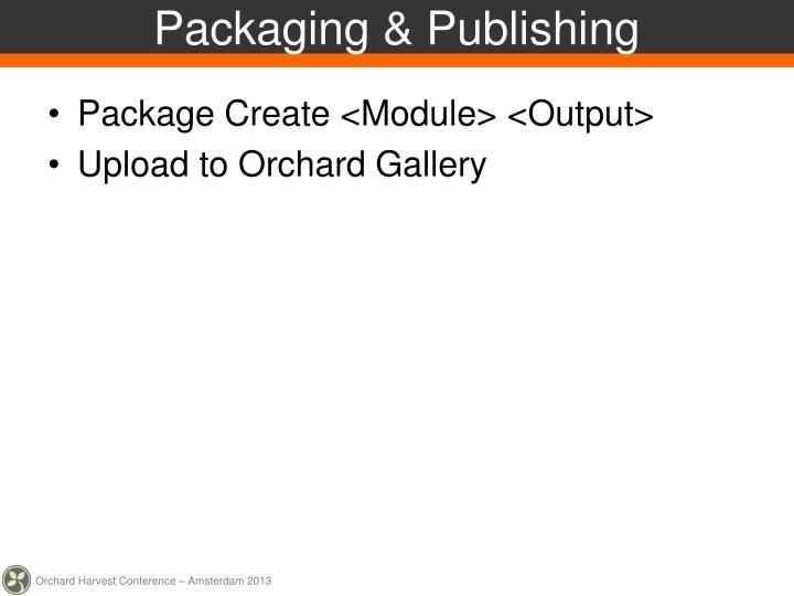 Packaging & Publishing