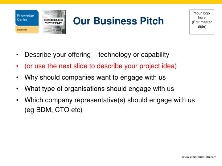 Our Business Pitch