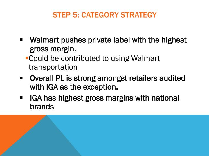 Step 5: Category Strategy