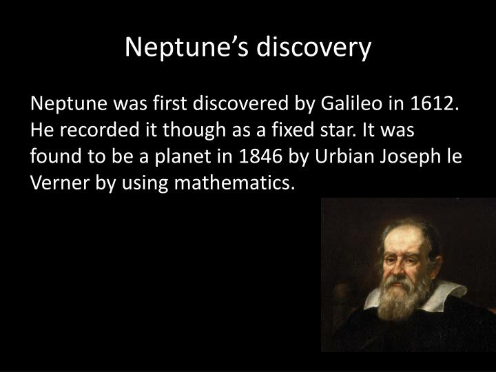 Neptune's discovery
